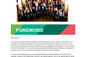 Fourth Alliance4Life Newsletter Released